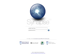 Synapse login screen
