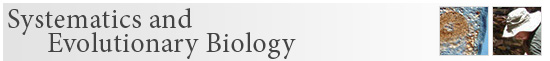 Systematics and Evolutionary Biology banner