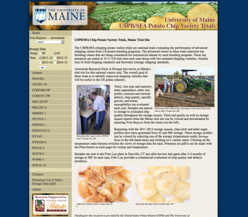Potato Chip Variety Trials Site Link