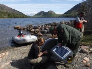 Monitoring Buoy at Jordan Pond